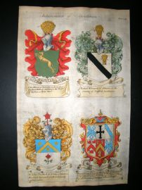 Guillim Heraldry 1679 H/Col. R. Whitworth, John Vanheck, Stanley's of Devonshire